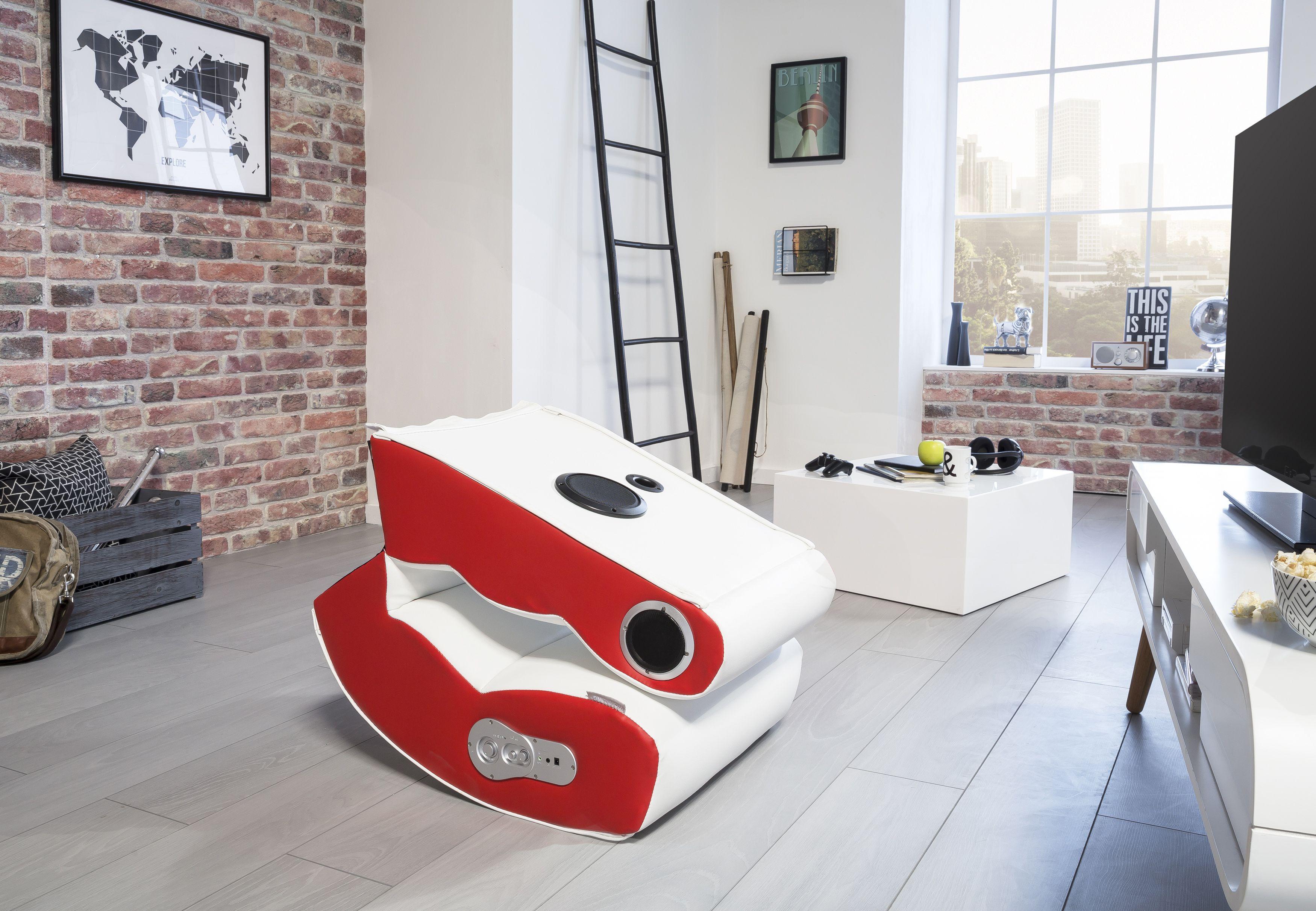Wohnling Wooble Soundchair rot mit Bluetooth WL8.017 aus Kunstleder ...