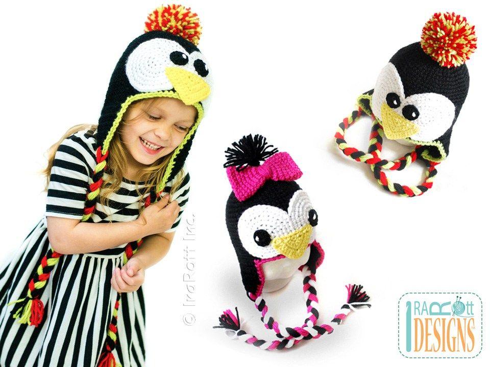 Floppy The Penguin Hat PDF Crochet Pattern | Pinterest