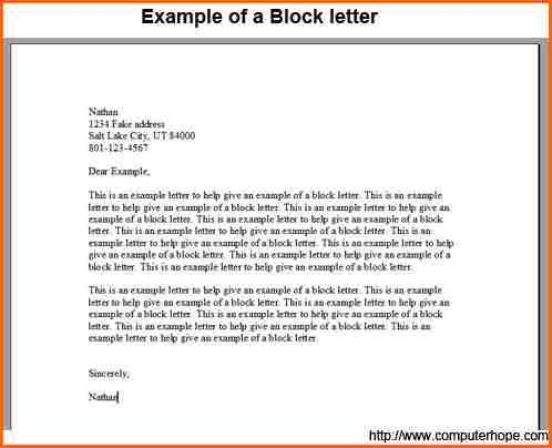 Block Style Business Letter Sample Contract Template Format  Home