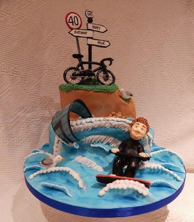 Kite surfing cake Novelty Cakes Wedding Birthday and all