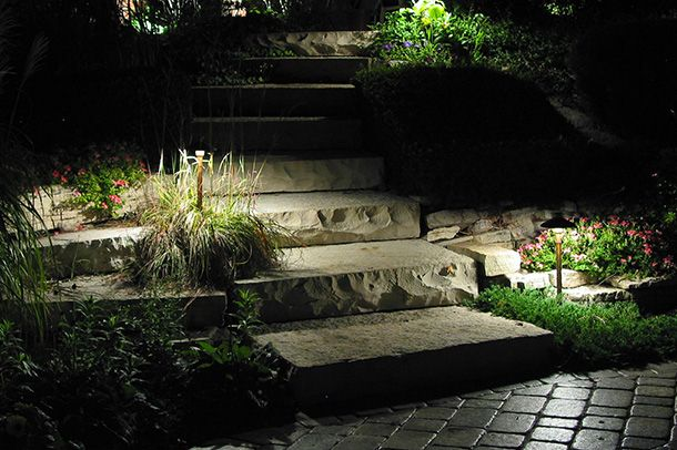 Landscape Lighting Can Make Any Part Of Your House Safe For You Family And Friends Walkway Landscaping Walkway Lighting Landscape Lighting