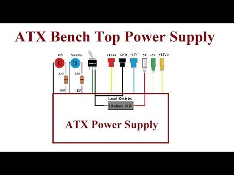 9) ATX Computer Bench Top Power Supply. - Step by step. - YouTube ...