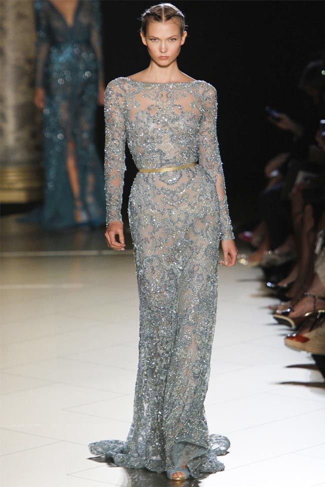 """Saab Splendor – Elie Saab's fall 2012 haute couture collection once again delivered opulent, elegant gowns for an outing described as """"imperial splendor"""""""