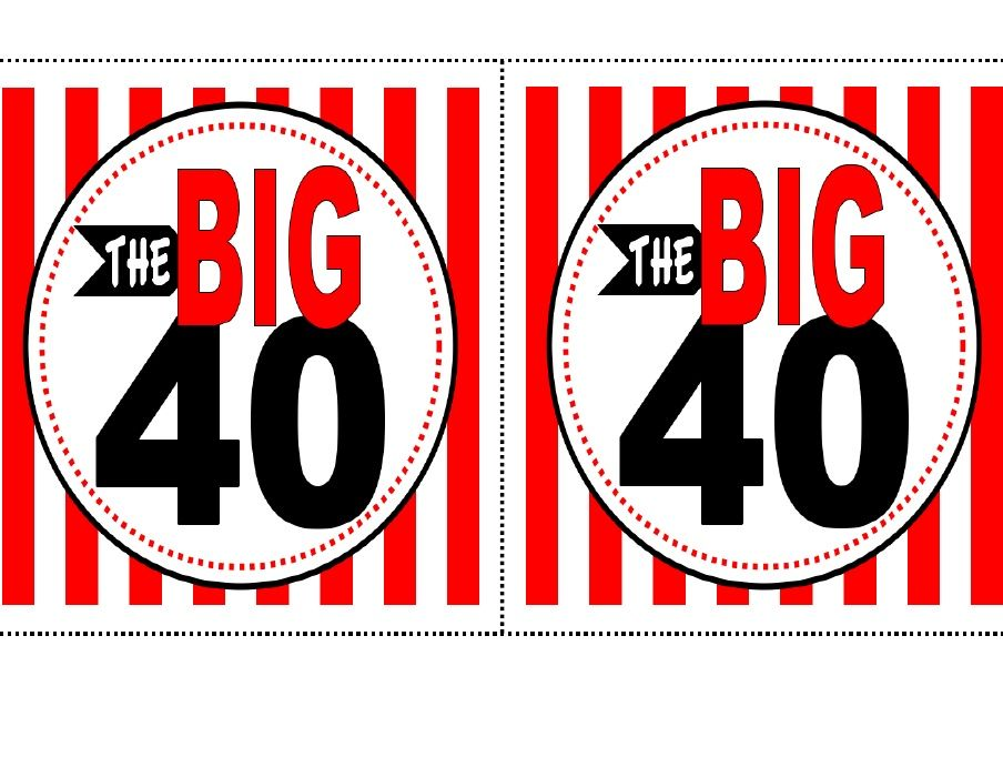 40th Birthday Free Printable
