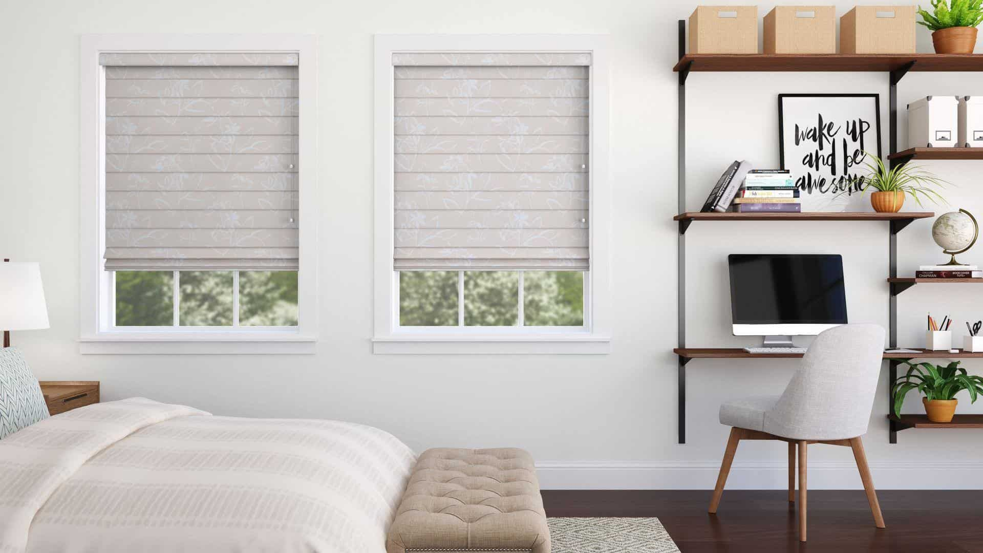 Windows with blinds inside the glass  Good Housekeeping Roman Shades Blackout  House ideas  Pinterest