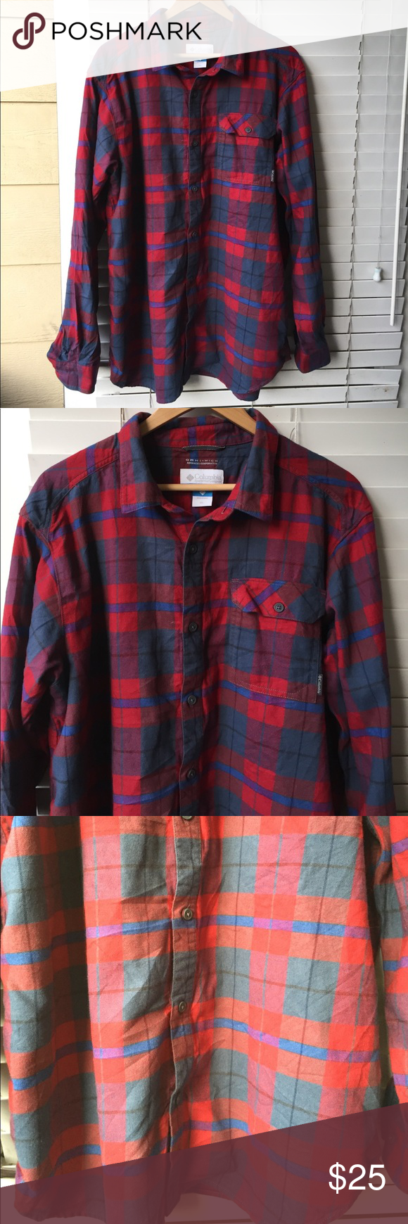 Columbia flannel jacket  Columbia Plaid Flannel Long Sleeve Button Shirt  Plaid flannel