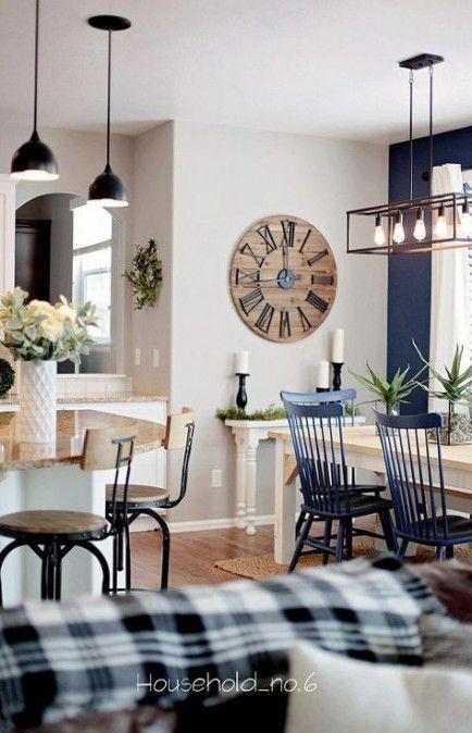 15+ trendy farmhouse dining room navy #farmhousediningroom