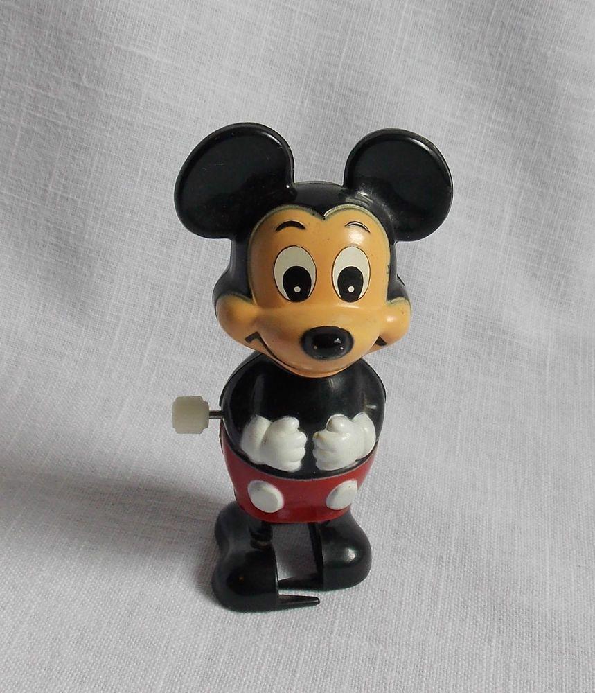 Vintage Tomy Mickey Mouse Wind Up Walking Toy Walt Disney Works ...