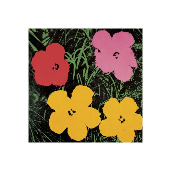 Flowers, 1964 (Red, Pink and Yellow) Wall Art Print ($85) ❤ liked ...
