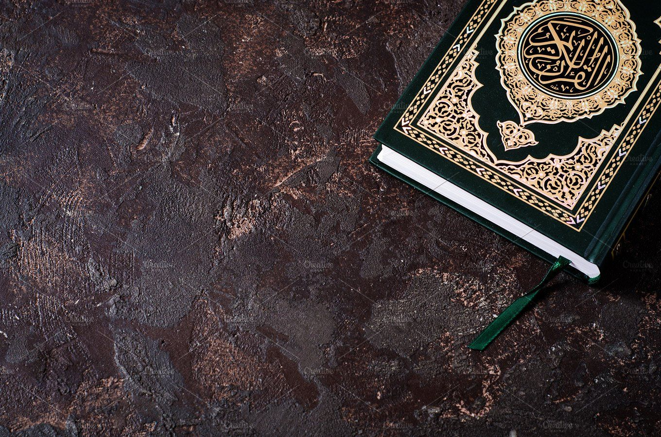 Islamic Book Koran On Dark Vintage Background With Arabic Calligraphy That Means The Holy Quran Selective Focus Quran Wallpaper Quran Holy Quran