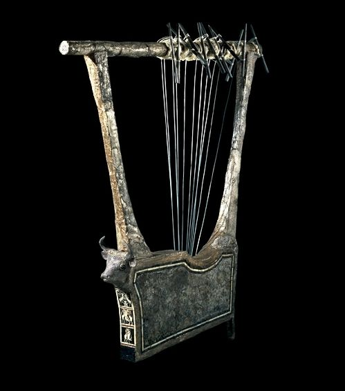 Sumerian Silver Lyre, from Ur, southern Iraq, c 2600 - 2400 BC.... at Ancient & Medieval History