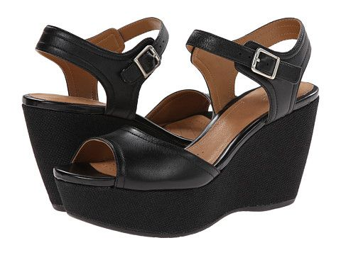 Clarks nadene lola black leather
