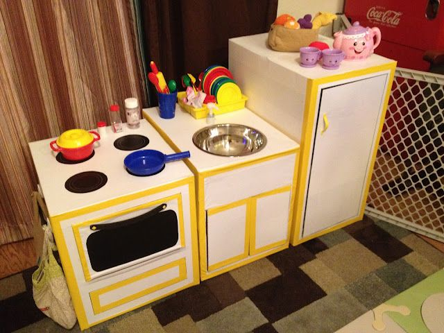 Earth Day: Upcycling Making A Play Kitchen From Boxes