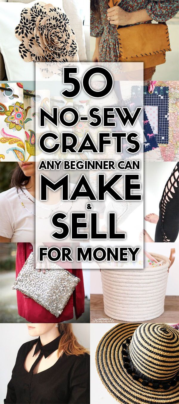 50 No Sew Crafts Any Beginner Can Make and Sell For Cash #craftstomakeandsell
