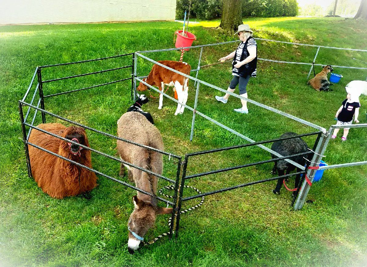 Petting zoo in Langhorne Pa for church event