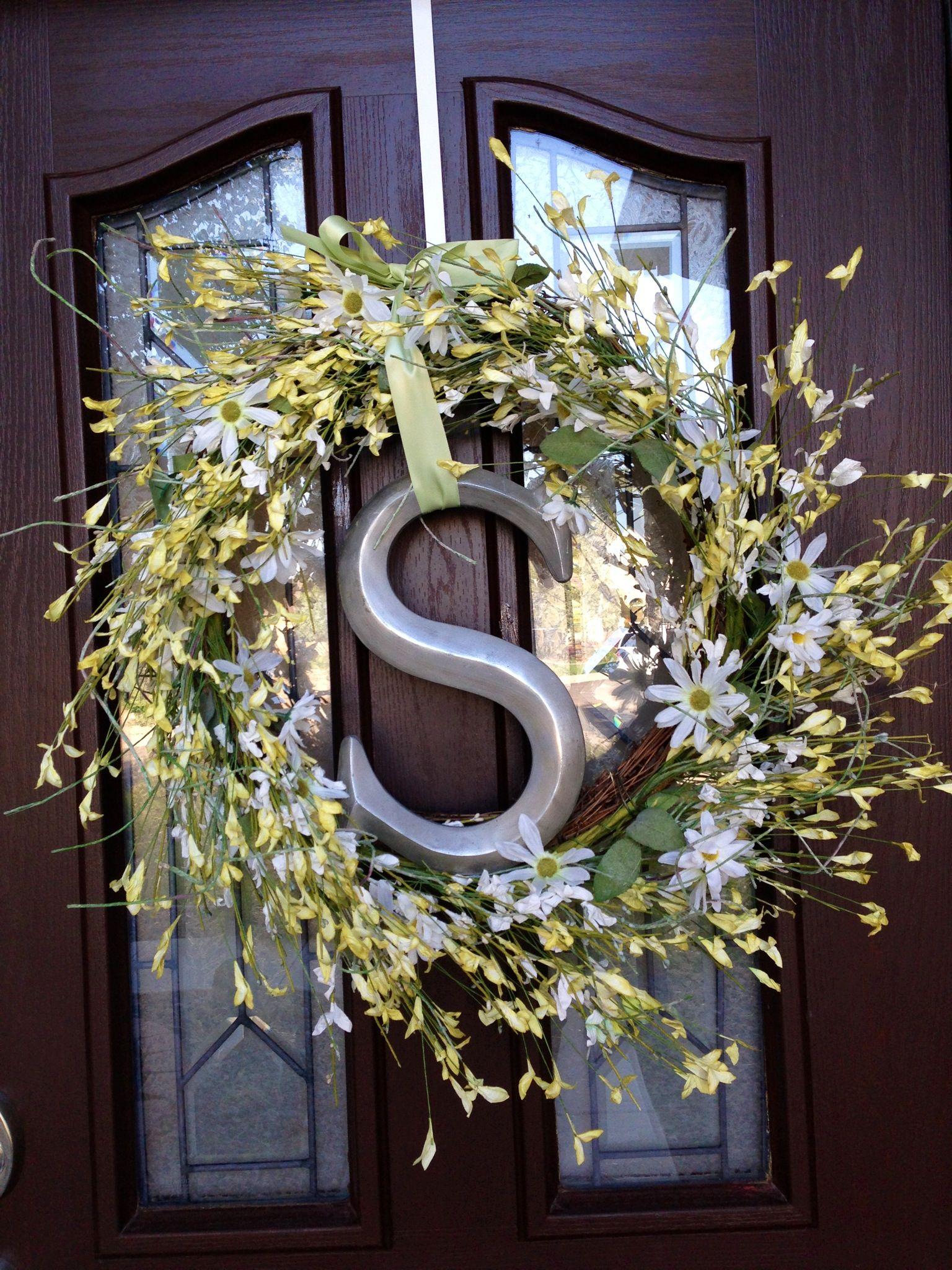 Diy Wreath Hobby Lobby Wreath Initial Ribbon Diy Wreath Door Wreath Hanger Diy Crafts
