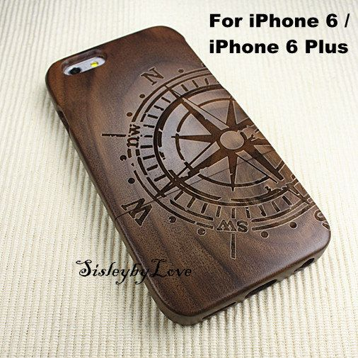 Custom Order Compass  wood iPhone 6 plus case wood by SisleybyLove