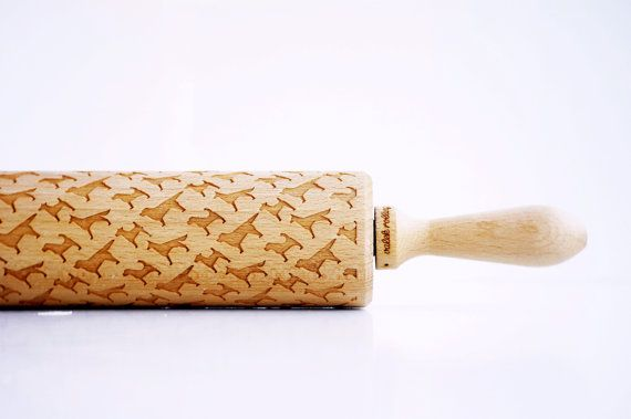 [65] DOGS Embossing rolling pin laser engraved by ValekRollingPins US$32.39 with a collection of breeds incorporated into the design