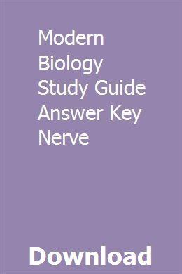 Modern Biology Study Guide Answer Key Nerve   Study guide ...