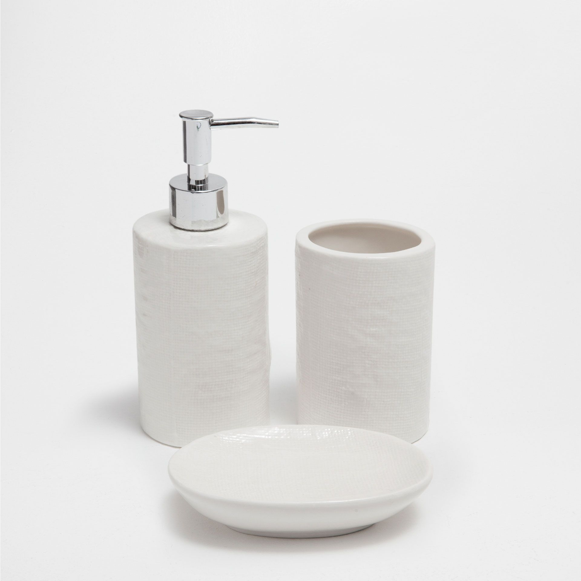 Access Denied Bathroom Sets White Ceramics Bathroom Soap Dispenser
