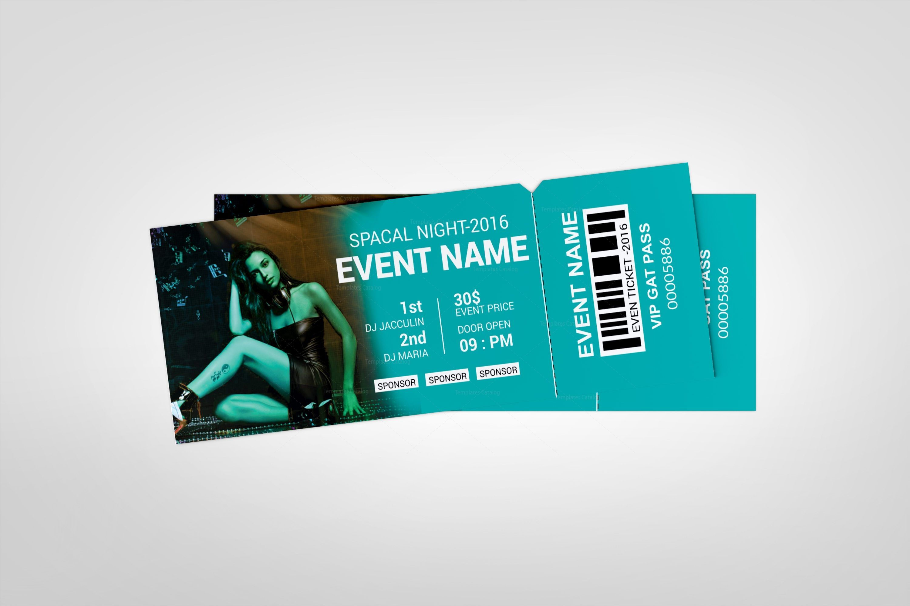 Party Event Ticket Design Template Graphic Templates Ticket Design Ticket Design Template Event Tickets Design
