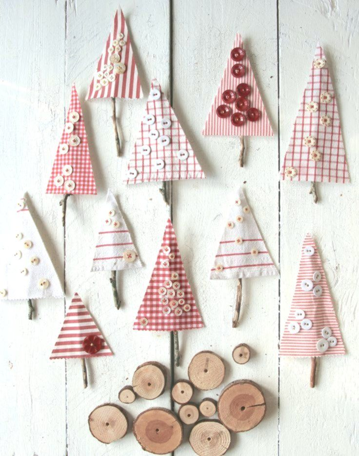 Boutons A Partir De Restes De Tissu Pour Noel Sweet Laura Button Christ Christmas Decorations For Kids Christmas Diy Christmas Decor Diy