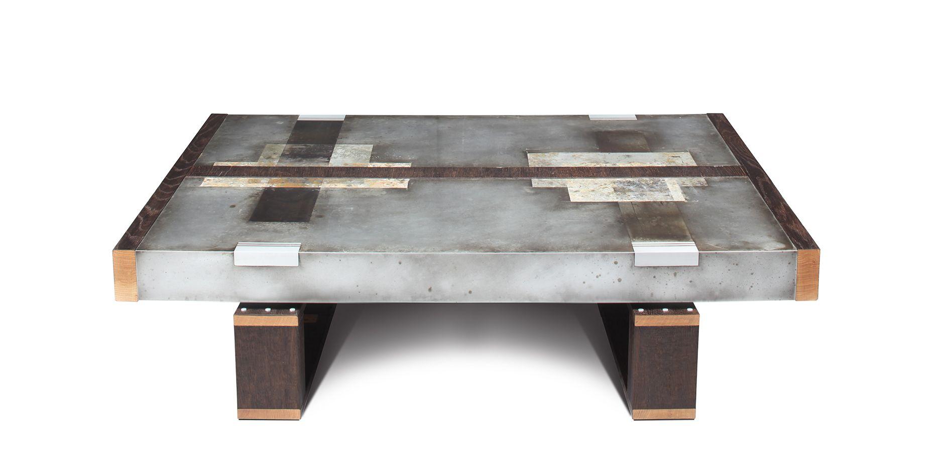- StudioRoeper – DIVIDED LANDS ZINC Coffee Table In 2019 Zinc