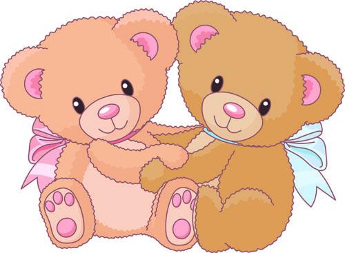 Vintage Bear Clip Art | Free EPS file Cute Teddy Bear vector ...