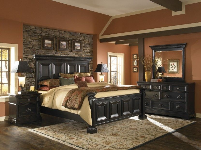 Chic Black Bedroom Furniture To Accompany Your Stylish Personality Eclectic Style Black Bedroom Furniture Stone