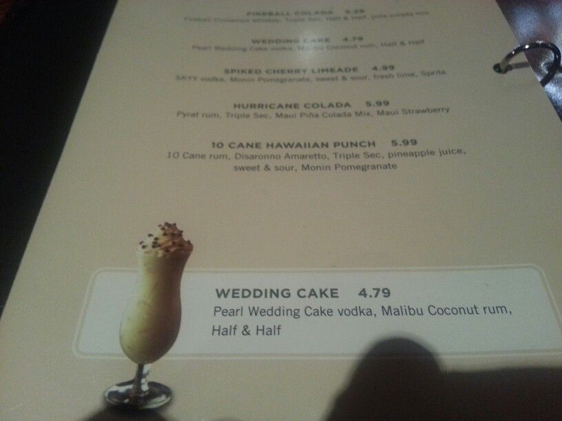 Wedding cake drink at Cheddars restaurant Looks yummy Foodie Fun