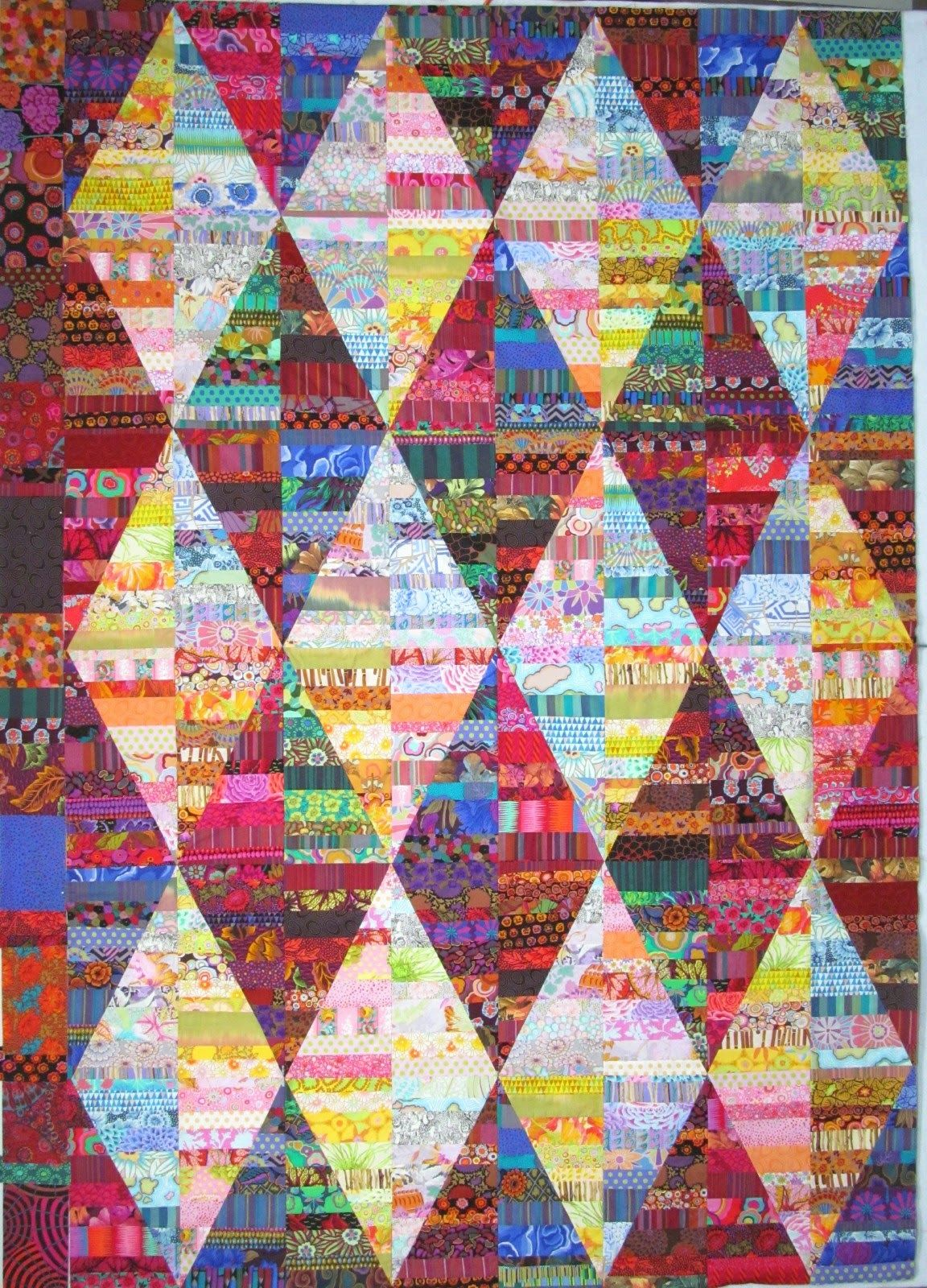 Auditioning a border exuberant color quilts
