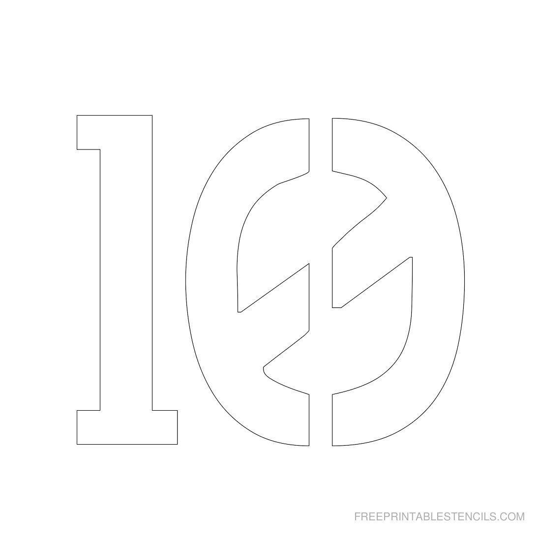 Printable 3 Inch Number Stencils 1 10 Free Com
