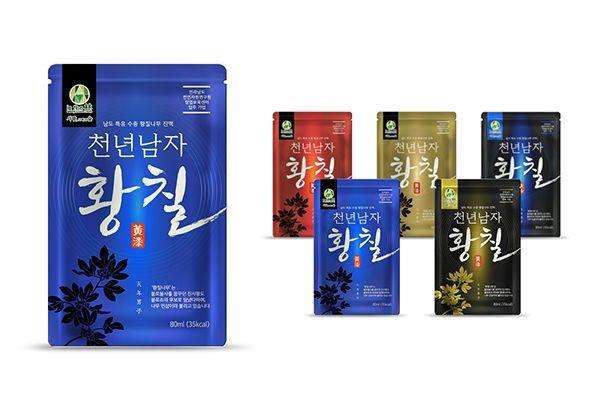 황칠진액 파우치 health drink pouch on Behance