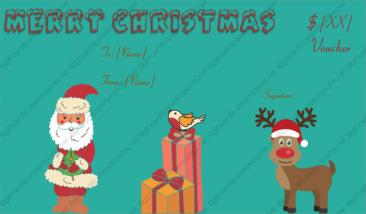reindeer christmasvoucher free christmas certificate gift certificate templategift - Free Christmas Gift Certificate Template