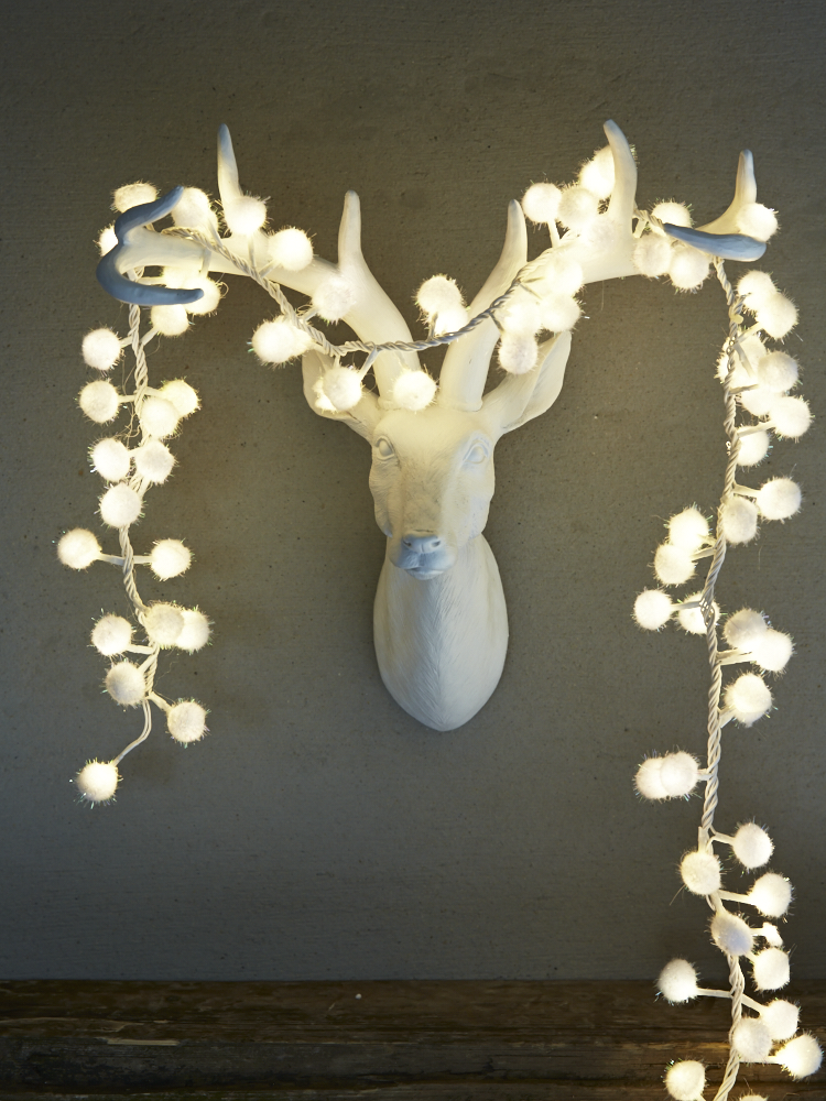 Snowball Cluster Light Garland | Christmas at Cox & Cox ...
