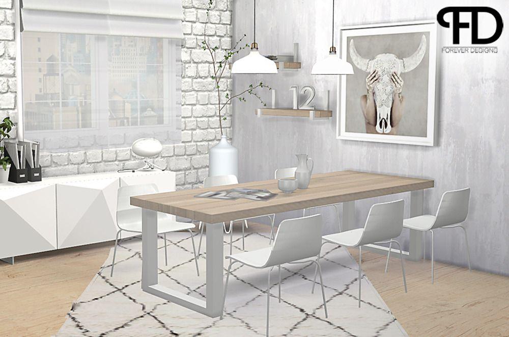 INDUSTRIAL U DINING ROOM by ForeverDesigns