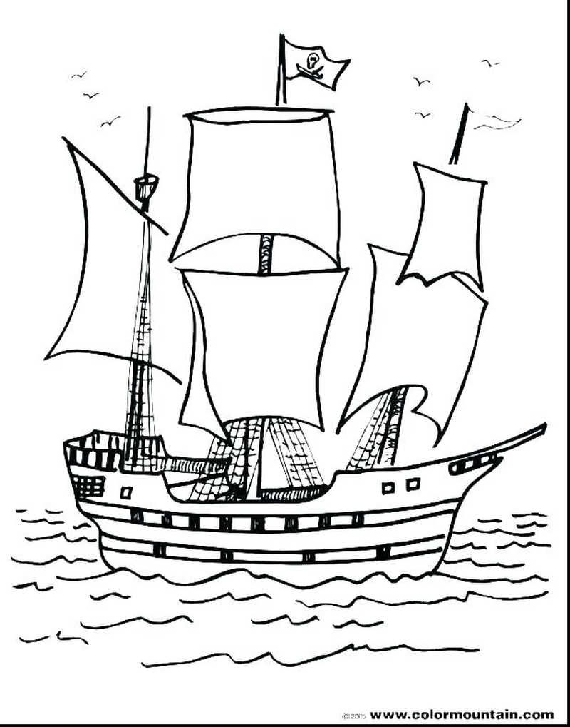 Printable Boat Coloring Pages Coloring pages, Coloring