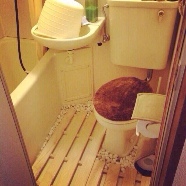 バス トイレ トイレ床 ユニットバスのインテリア実例 2014 07 13 19 39 20 Roomclip ルームクリップ ユニットバス