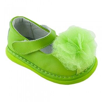 Shoes Removable Squeaker Silver Glitter NEW Wee Squeak Flower Girl