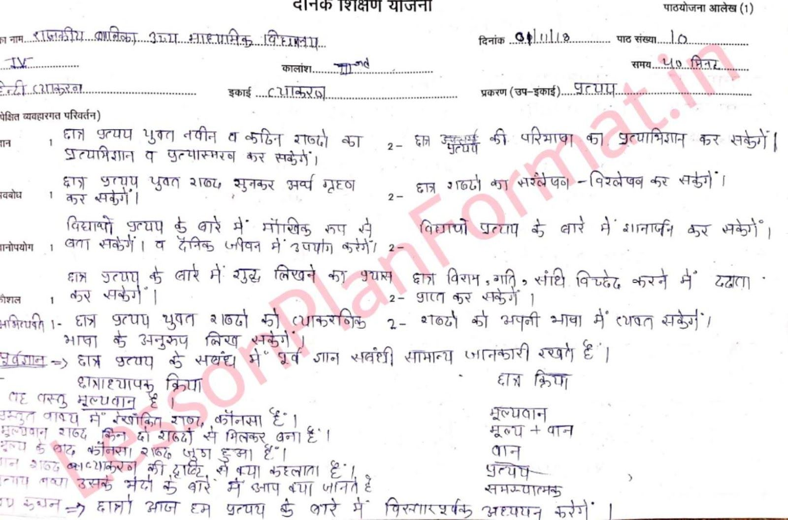 Hindi Vyakaran Pratyay Lesson Plan Lesson Plan In Hindi How To Plan Grammar Lesson Plans [ 1056 x 1600 Pixel ]