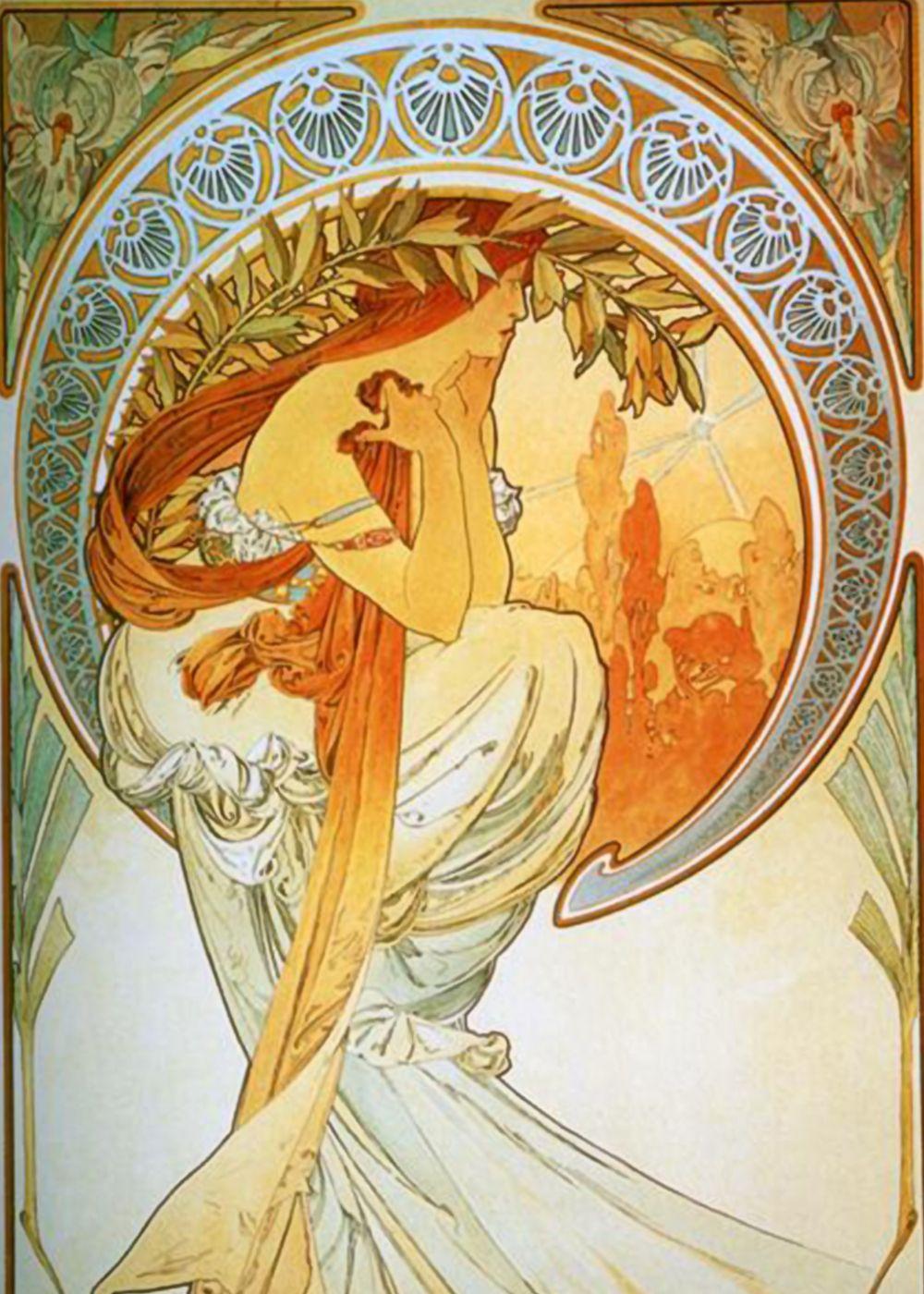 *~*~*~*~*~*~*~*~*~*~*~*~*~Alphonse Mucha. Poetry 1898 - The Arts Series  *~*~*~*~*~*~*~