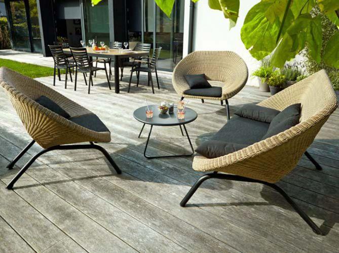 55 Idees Deco Pour S Amenager Une Terrasse Canon Elle Decoration Mobilier Jardin Chaise Exterieur Decor De Patio