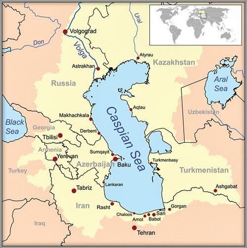 The Caspian Sea in 2019 | Iran, Map, Middle east
