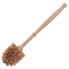 Plastic Free Wooden Toilet Brush With Edge Cleaner Medium Bristles Toilet Brush Biodegradable Products Toilet