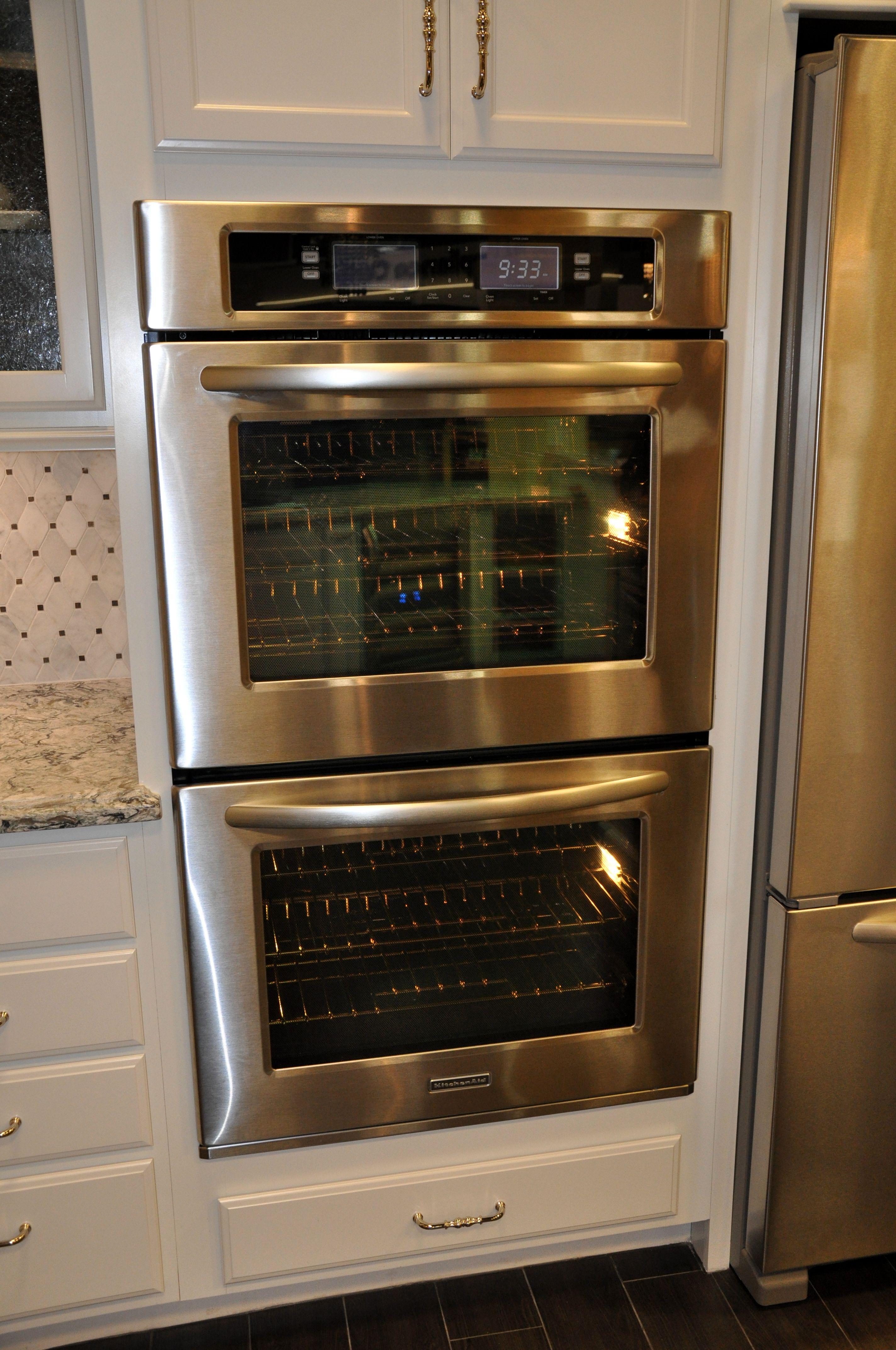 KitchenAid stainless steel double steam oven. | White Kitchens ...