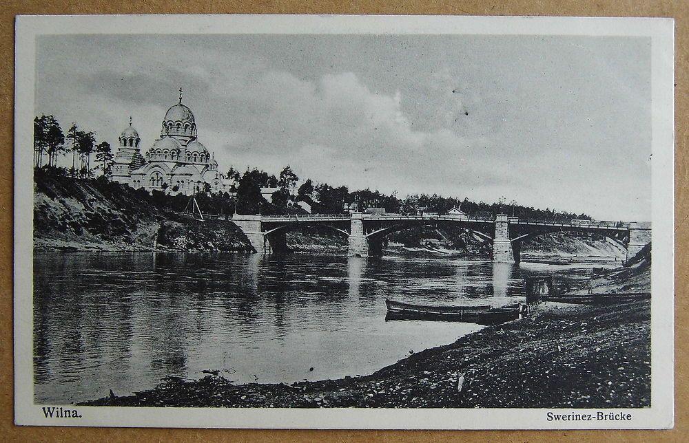 Wilna - Swerinez Brücke um 1920 - AK Litauen