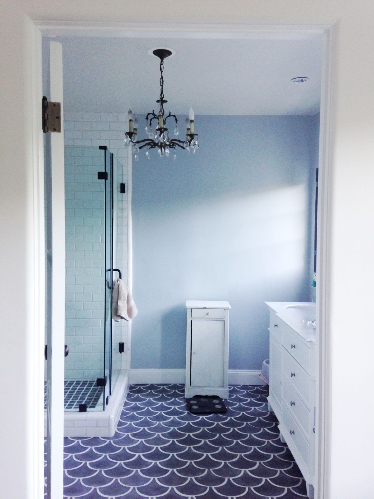 Navy Blue Floor Tile Bathroom Bathroom Exclusiv Pinterest Blue