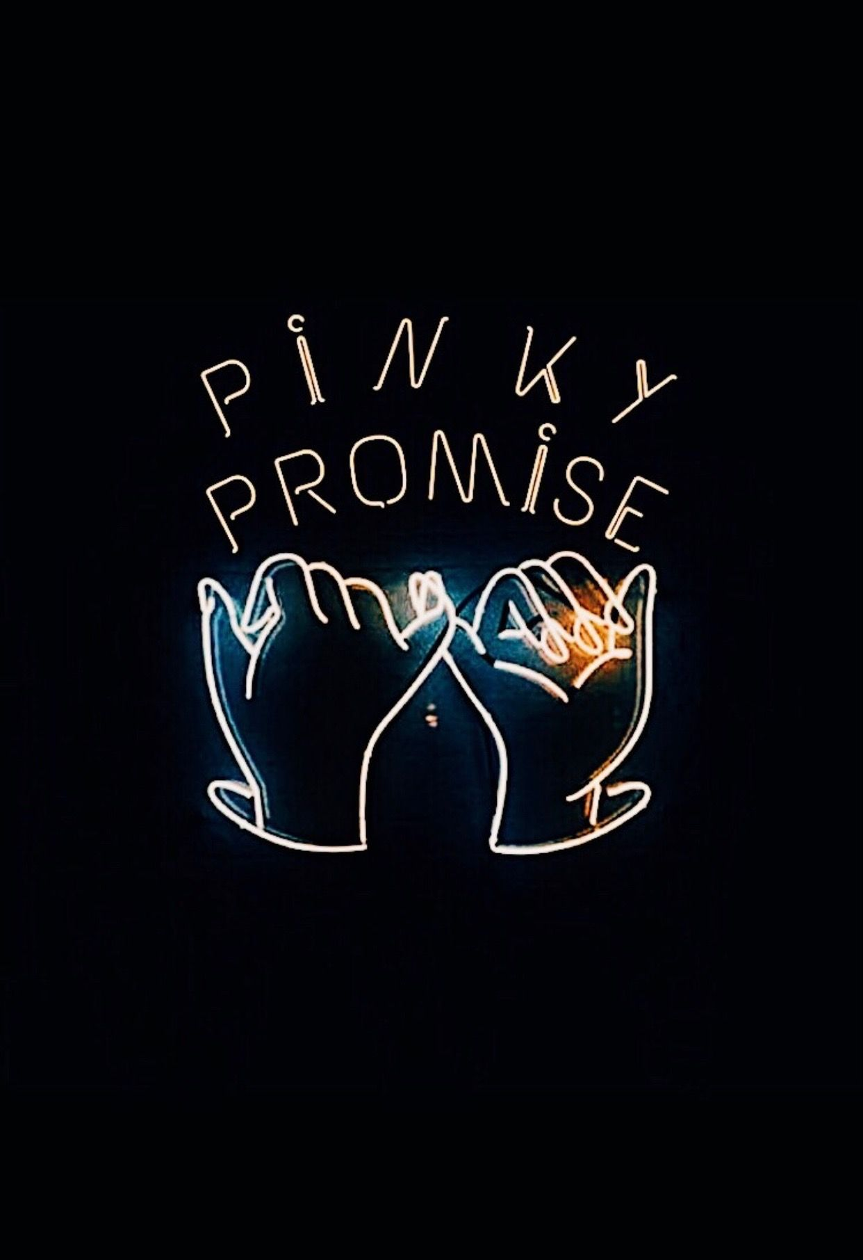 Pinky Promise Quote Neon Signs Neon Neon Aesthetic