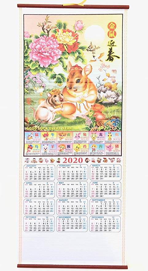 My Lucky 2020 Chinese Year of The Rat Calendar