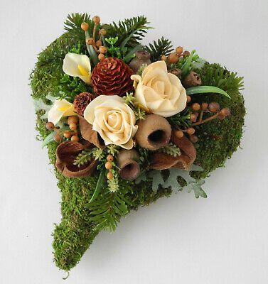 Grabgesteck Herz creme, Grabschmuck, Allerheiligen, Totensonntag, Gedenktag #friedhofsblumen